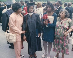 Far right is Gramee and her famous purse. Believe me, I felt a lot better than getting my degree than I looked...